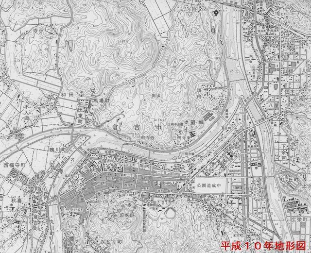 平成10年の地形図では、上井 ...